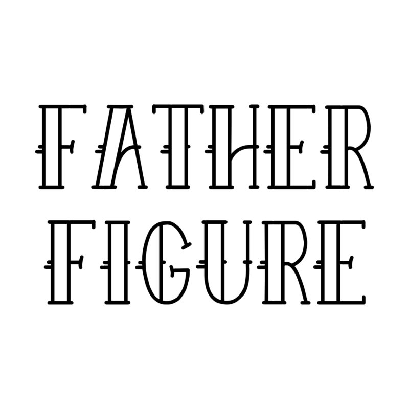 Father Figure Black Home Mounted Aluminum Print by adamj's Artist Shop