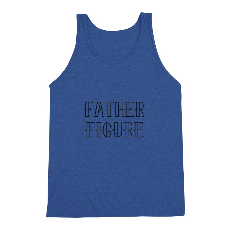 Father Figure Black Men's Triblend Tank by adamj's Artist Shop