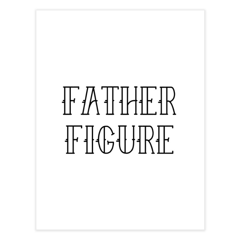 Father Figure Black Home Fine Art Print by adamj's Artist Shop