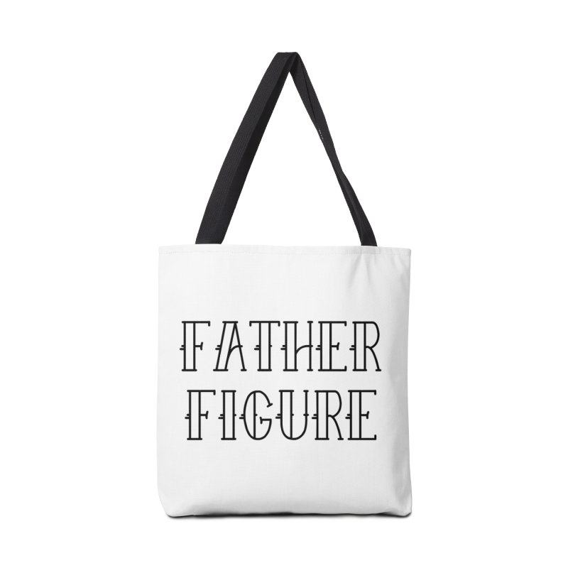 Father Figure Black Accessories Bag by adamj's Artist Shop