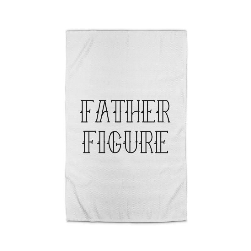 Father Figure Black Home Rug by adamj's Artist Shop