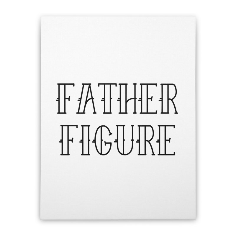 Father Figure Black Home Stretched Canvas by adamj's Artist Shop