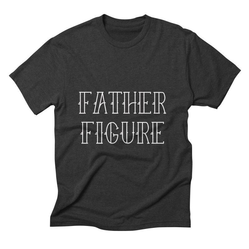Father Figure White Men's Triblend T-Shirt by adamj's Artist Shop