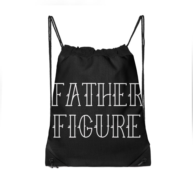 Father Figure White Accessories Drawstring Bag Bag by adamj's Artist Shop