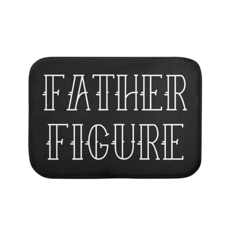 Father Figure White Home Bath Mat by adamj's Artist Shop