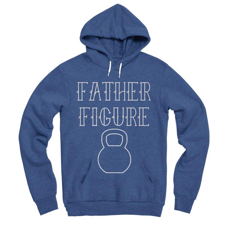 Father Figure White KB Men's Sponge Fleece Pullover Hoody by adamj's Artist Shop