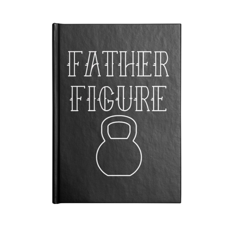 Father Figure White KB Accessories Lined Journal Notebook by adamj's Artist Shop