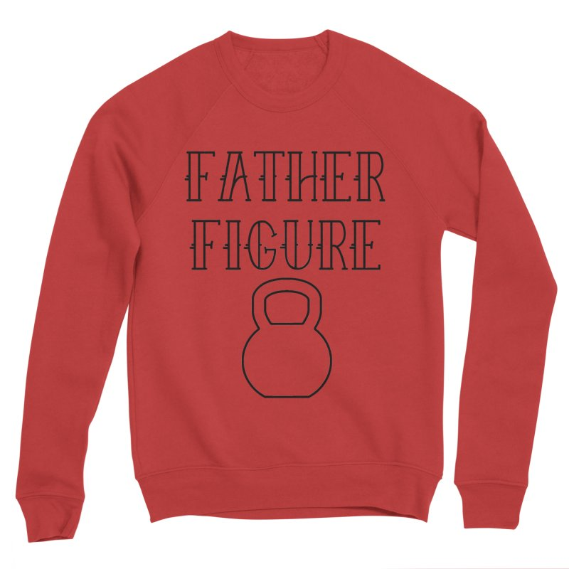 Father Figure KB Black Men's Sponge Fleece Sweatshirt by adamj's Artist Shop