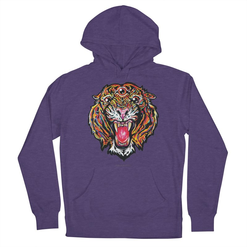 Tiger Women's French Terry Pullover Hoody by adamlevene's Artist Shop