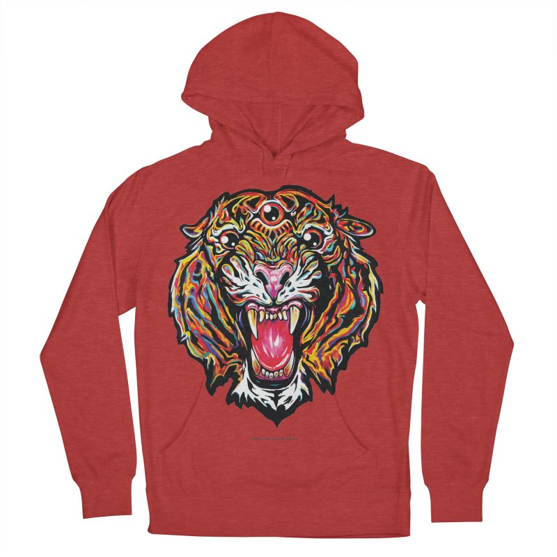 Tiger Men's French Terry Pullover Hoody by adamlevene's Artist Shop