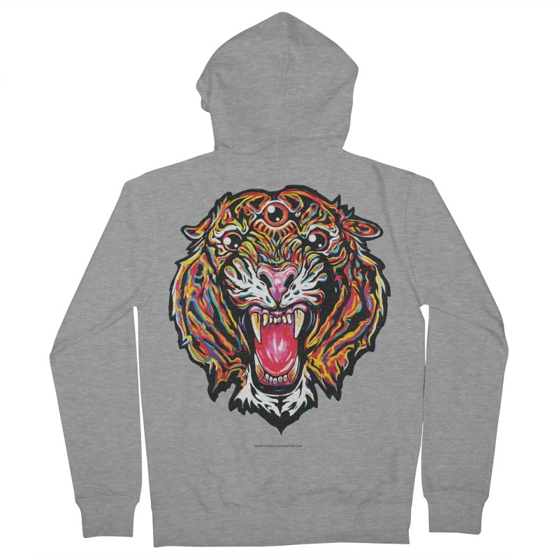 Tiger Men's French Terry Zip-Up Hoody by adamlevene's Artist Shop