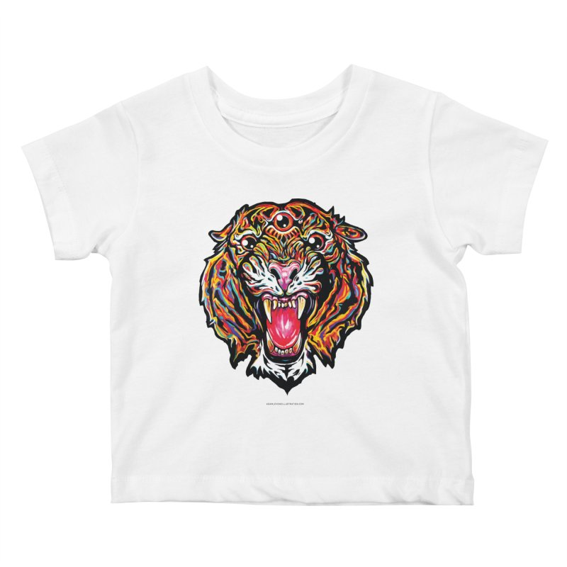 Tiger Kids Baby T-Shirt by adamlevene's Artist Shop
