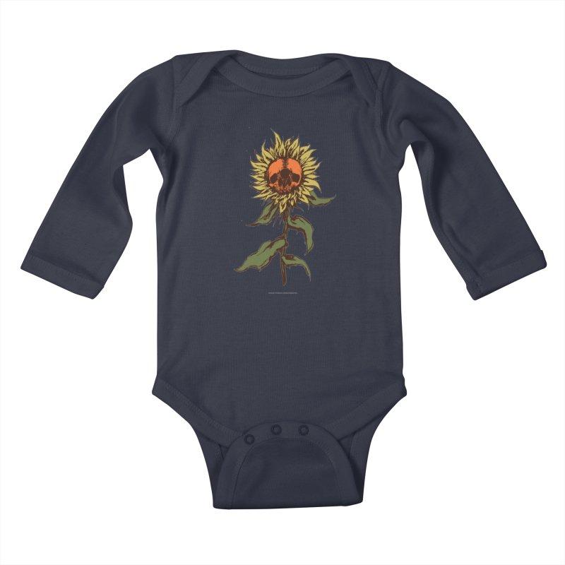 Sunflower Kids Baby Longsleeve Bodysuit by adamlevene's Artist Shop