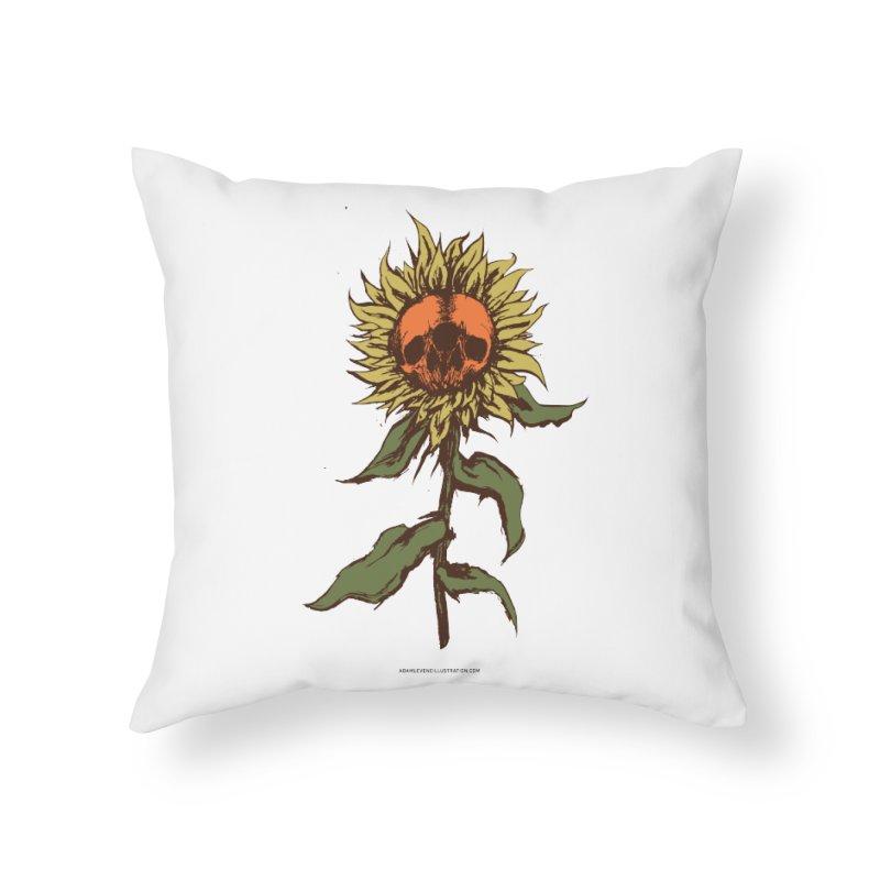 Sunflower Home Throw Pillow by adamlevene's Artist Shop