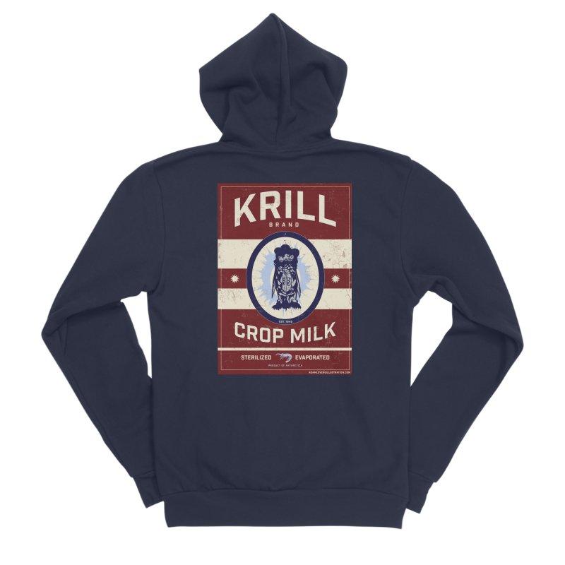 Krill Brand Women's Sponge Fleece Zip-Up Hoody by adamlevene's Artist Shop