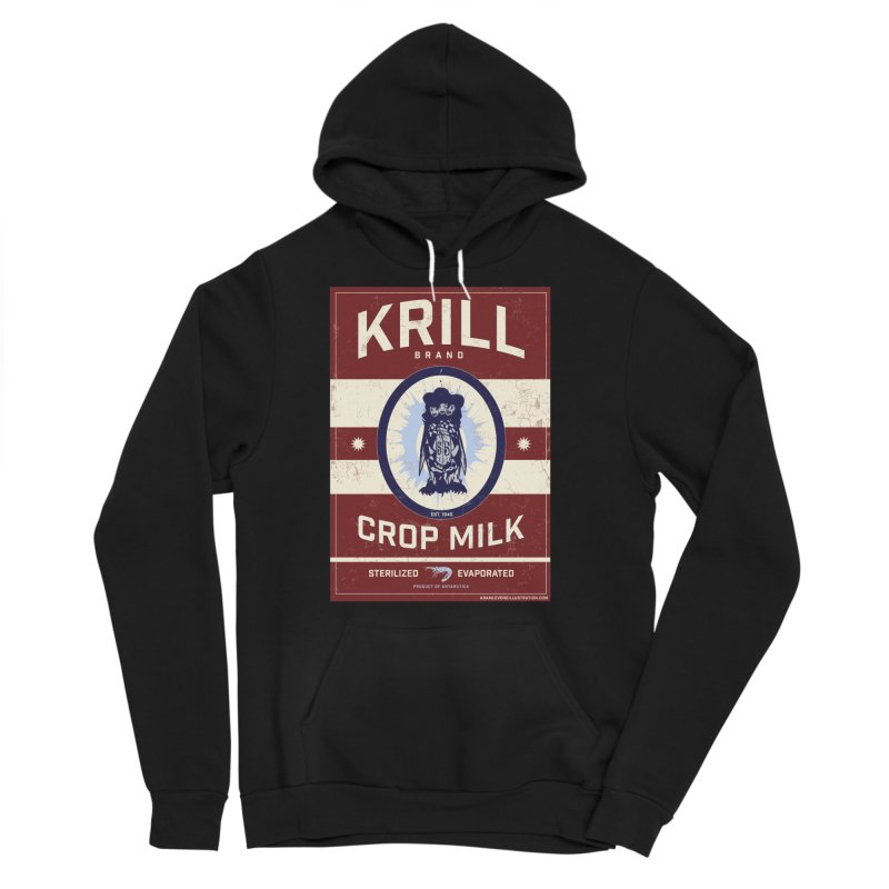 Krill Brand Men's Sponge Fleece Pullover Hoody by adamlevene's Artist Shop