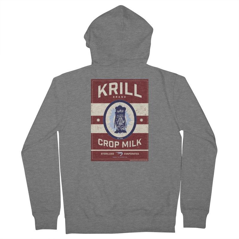 Krill Brand Men's French Terry Zip-Up Hoody by adamlevene's Artist Shop