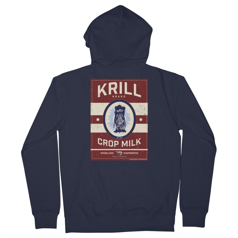 Krill Brand Men's French Terry Zip-Up Hoody by adamlevene's Artist Shop