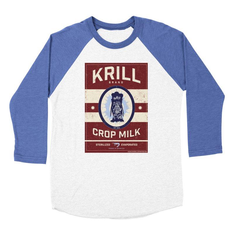 Krill Brand Men's Baseball Triblend Longsleeve T-Shirt by adamlevene's Artist Shop