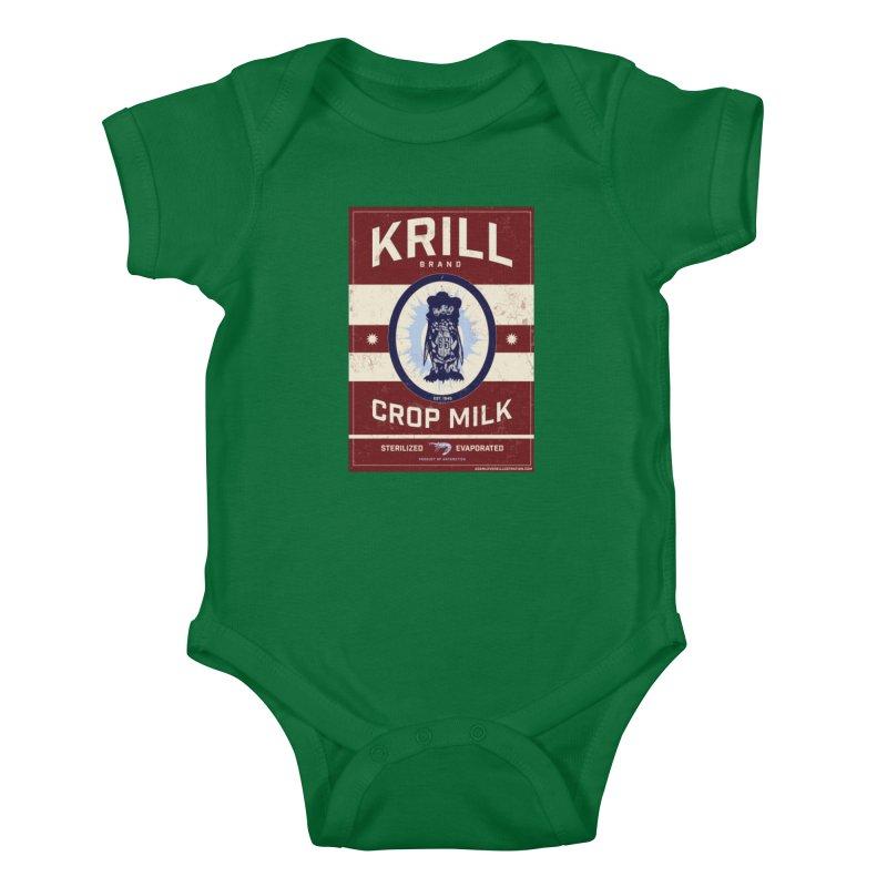 Krill Brand Kids Baby Bodysuit by adamlevene's Artist Shop