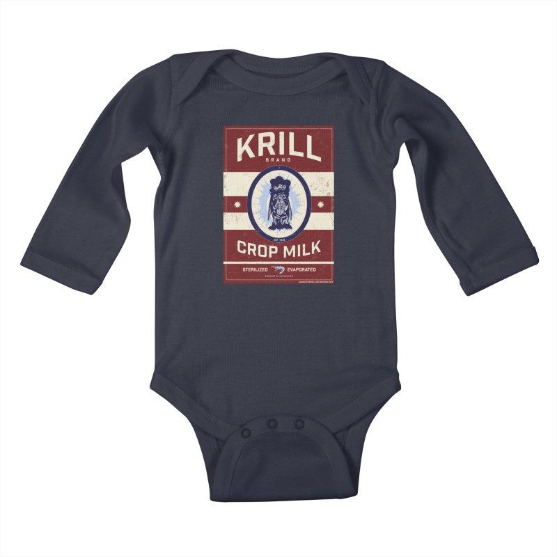 Krill Brand Kids Baby Longsleeve Bodysuit by adamlevene's Artist Shop