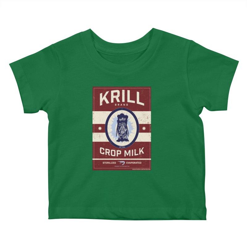 Krill Brand Kids Baby T-Shirt by adamlevene's Artist Shop
