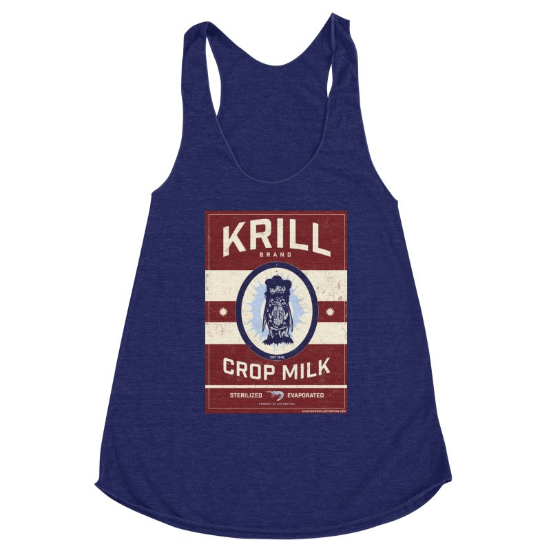 Krill Brand Women's Racerback Triblend Tank by adamlevene's Artist Shop