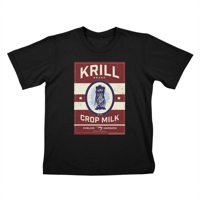 Krill Brand Kids T-Shirt by adamlevene's Artist Shop