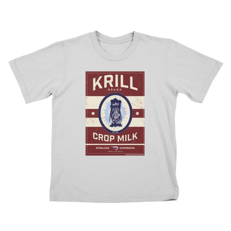 Krill Brand Kids T-Shirt by adamlevene's Artist Shop