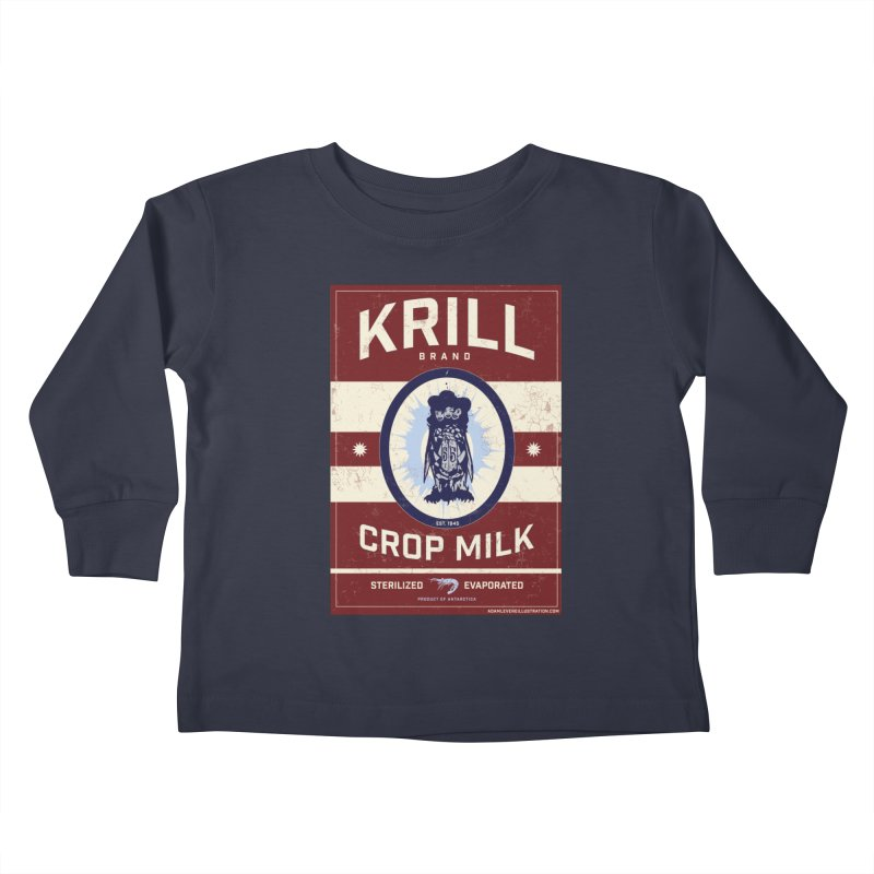 Krill Brand Kids Toddler Longsleeve T-Shirt by adamlevene's Artist Shop