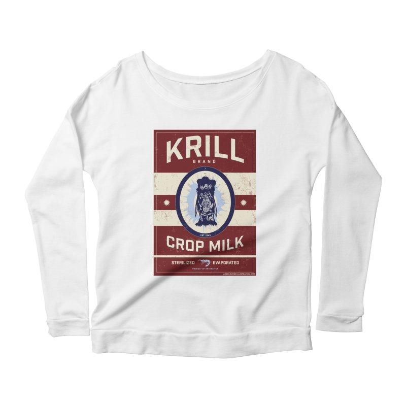 Krill Brand Women's Scoop Neck Longsleeve T-Shirt by adamlevene's Artist Shop