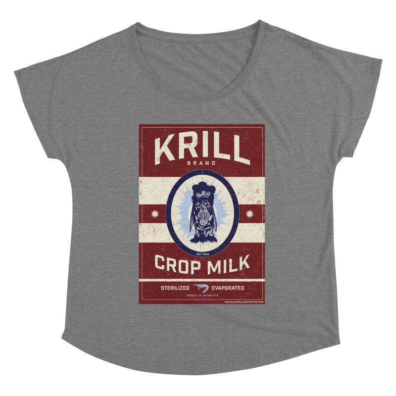 Krill Brand Women's Scoop Neck by adamlevene's Artist Shop
