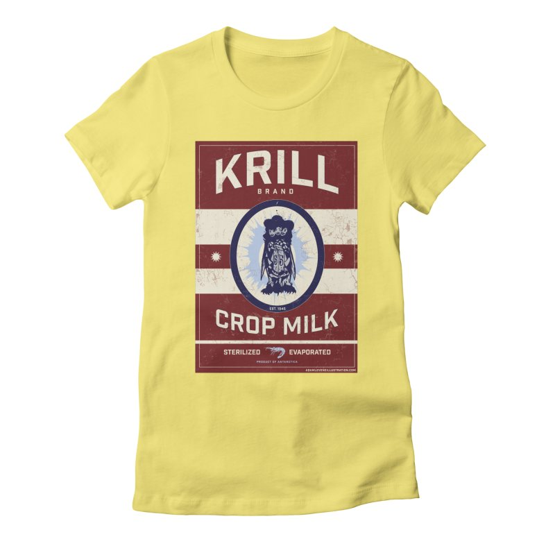 Krill Brand Women's Fitted T-Shirt by adamlevene's Artist Shop