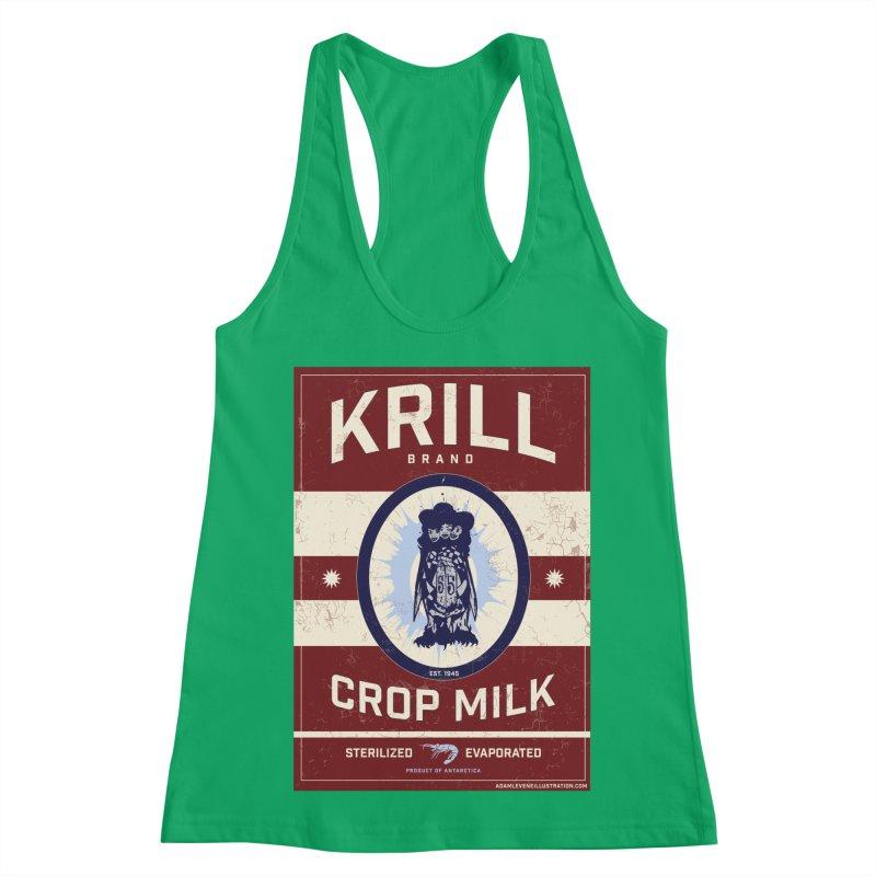 Krill Brand Women's Racerback Tank by adamlevene's Artist Shop