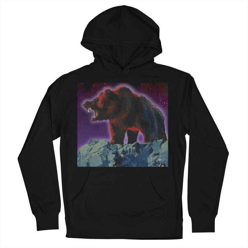 Cosmic Bear Men's French Terry Pullover Hoody by adamoday's Artist Shop
