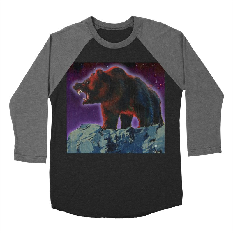 Cosmic Bear Men's Baseball Triblend Longsleeve T-Shirt by adamoday's Artist Shop