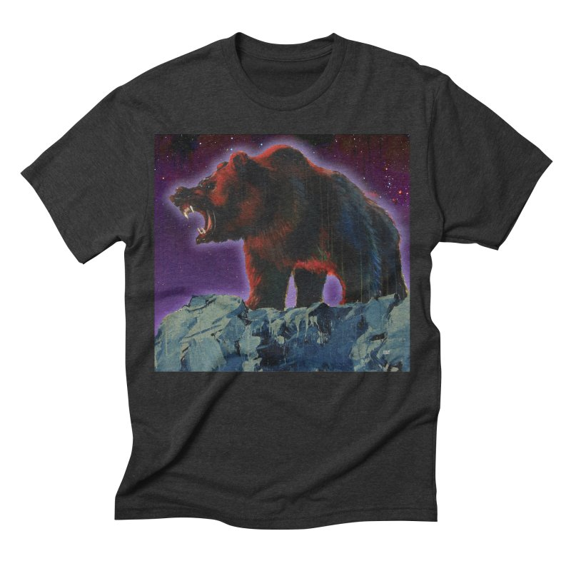 Cosmic Bear Men's Triblend T-shirt by adamoday's Artist Shop