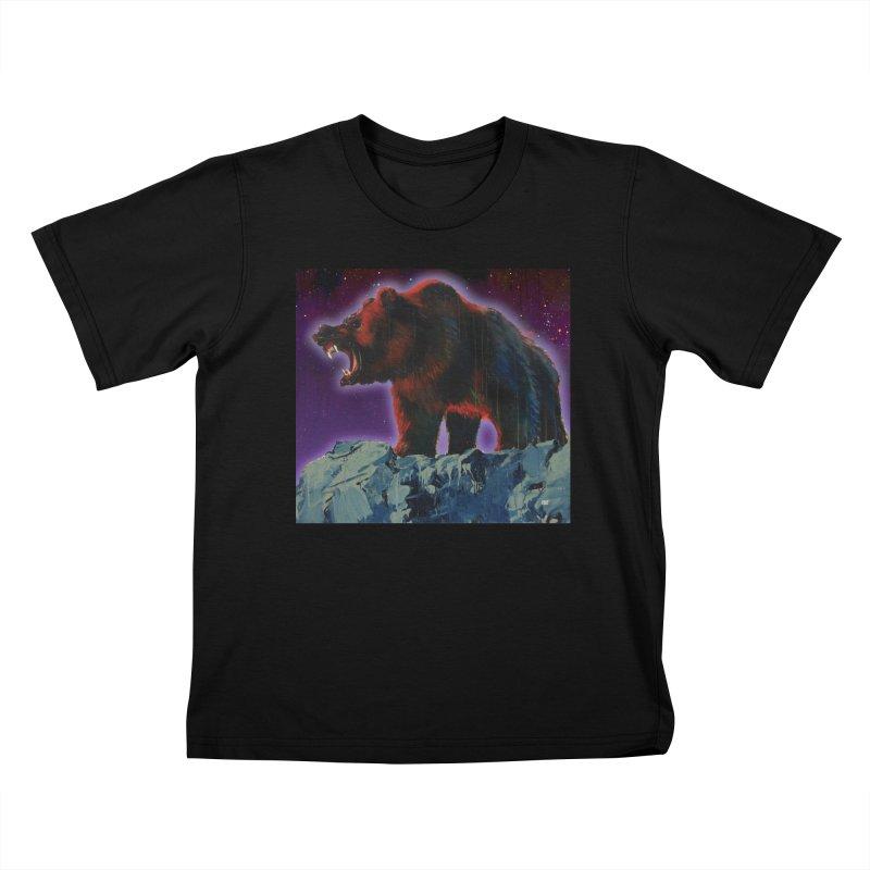 Cosmic Bear Kids T-shirt by adamoday's Artist Shop
