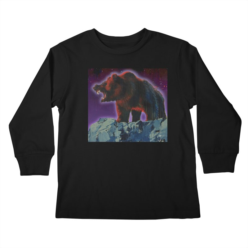 Cosmic Bear Kids Longsleeve T-Shirt by adamoday's Artist Shop
