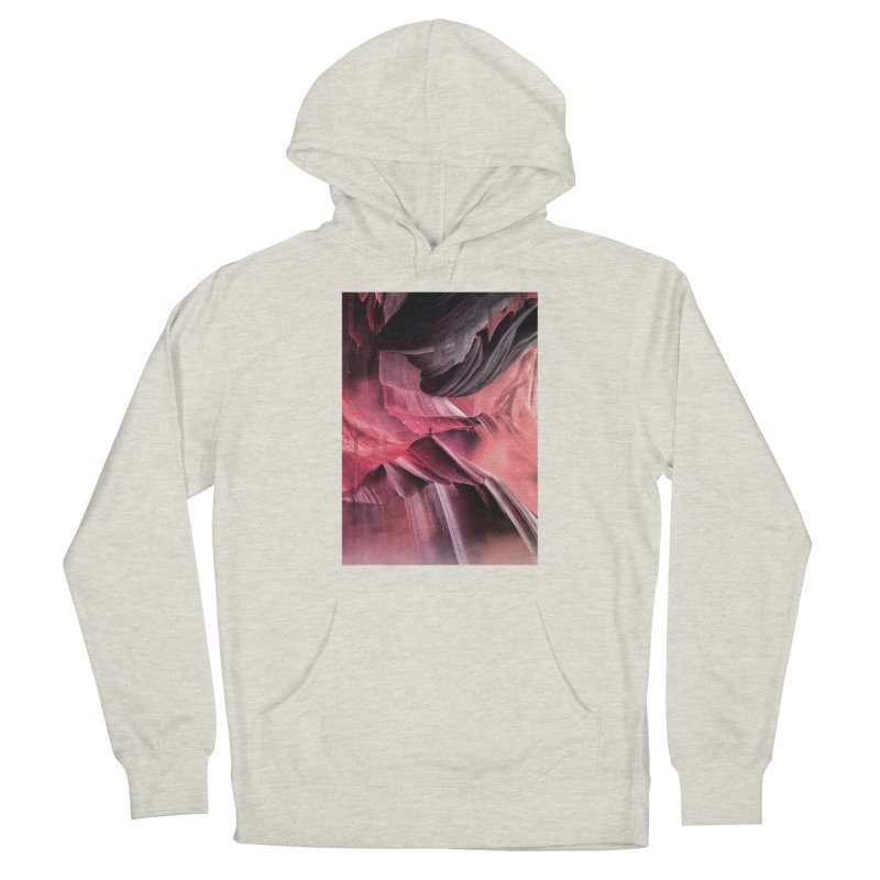 Return to a place never seen / Red Men's French Terry Pullover Hoody by Adam Priesters Shop