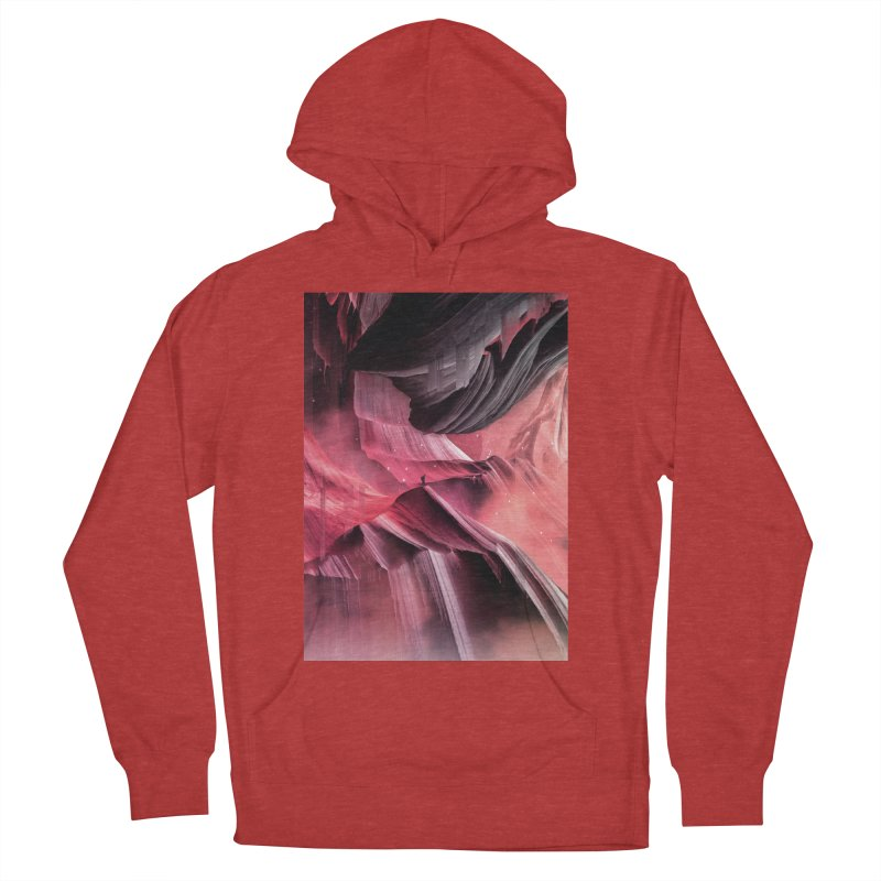 Return to a place never seen / Red Women's French Terry Pullover Hoody by Adam Priesters Shop