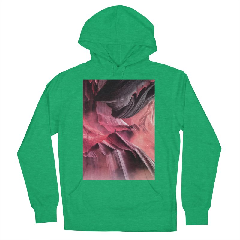 Return to a place never seen / Red Men's Pullover Hoody by Adam Priesters Shop