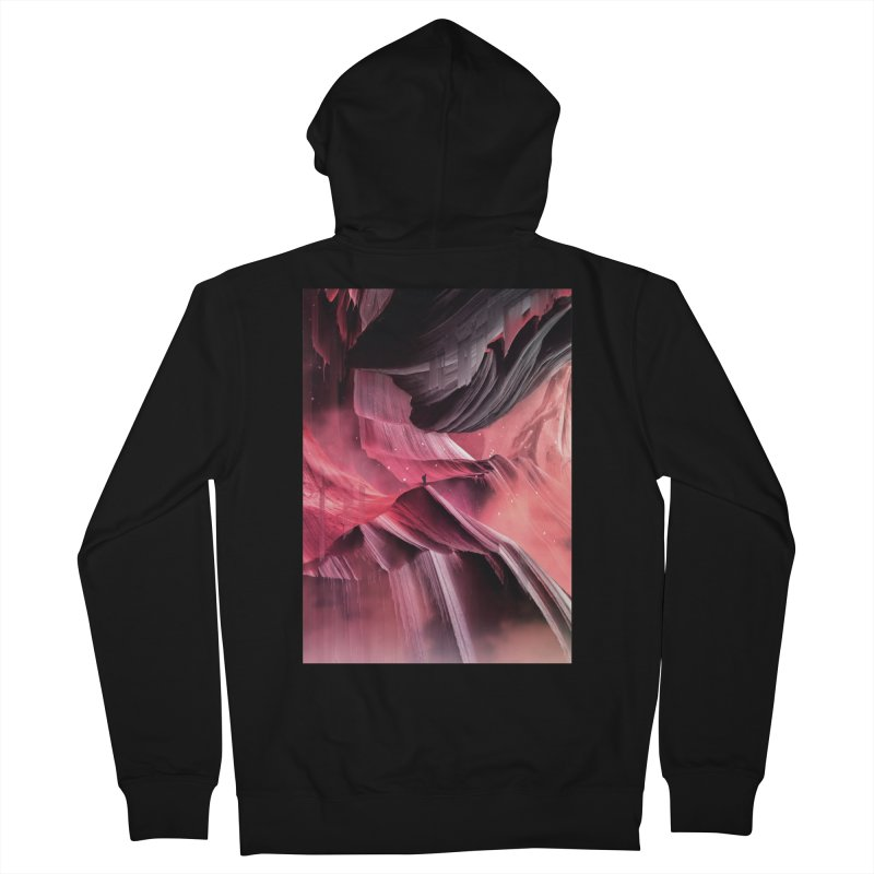 Return to a place never seen / Red Women's Zip-Up Hoody by Adam Priesters Shop