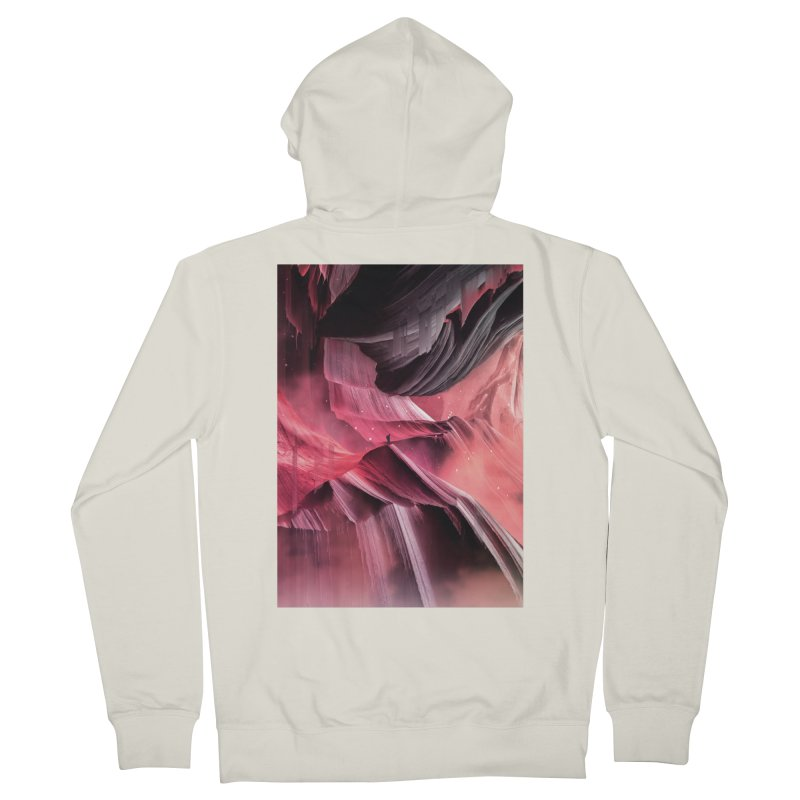 Return to a place never seen / Red Women's French Terry Zip-Up Hoody by Adam Priesters Shop