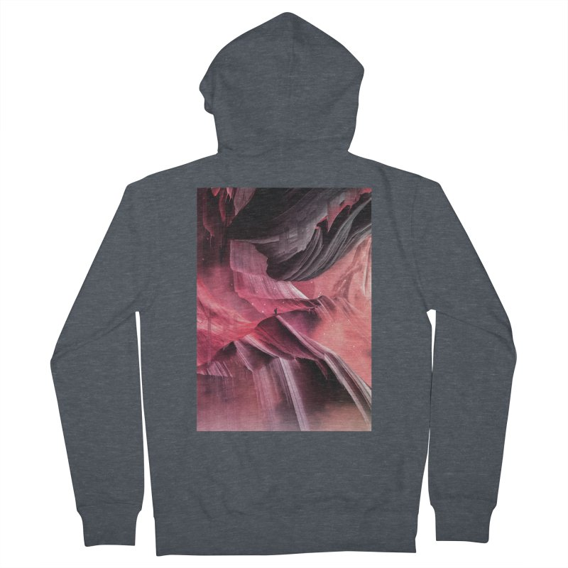 Return to a place never seen / Red Men's Zip-Up Hoody by Adam Priesters Shop