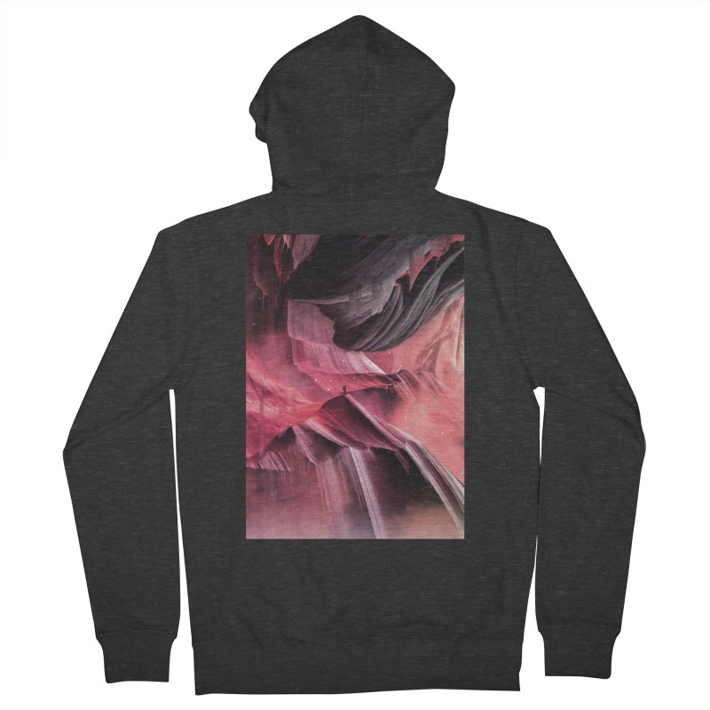 Return to a place never seen / Red Men's French Terry Zip-Up Hoody by Adam Priesters Shop
