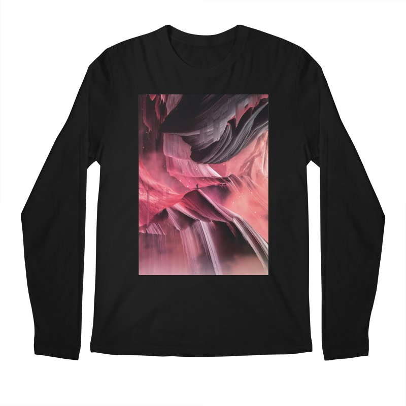 Return to a place never seen / Red Men's Regular Longsleeve T-Shirt by Adam Priesters Shop