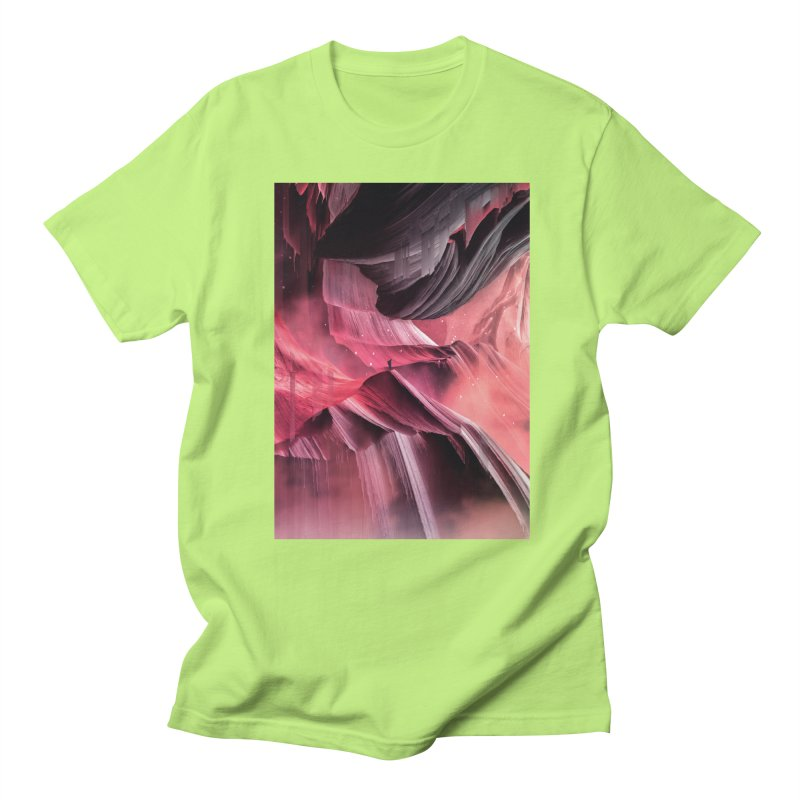 Return to a place never seen / Red Men's Regular T-Shirt by Adam Priesters Shop