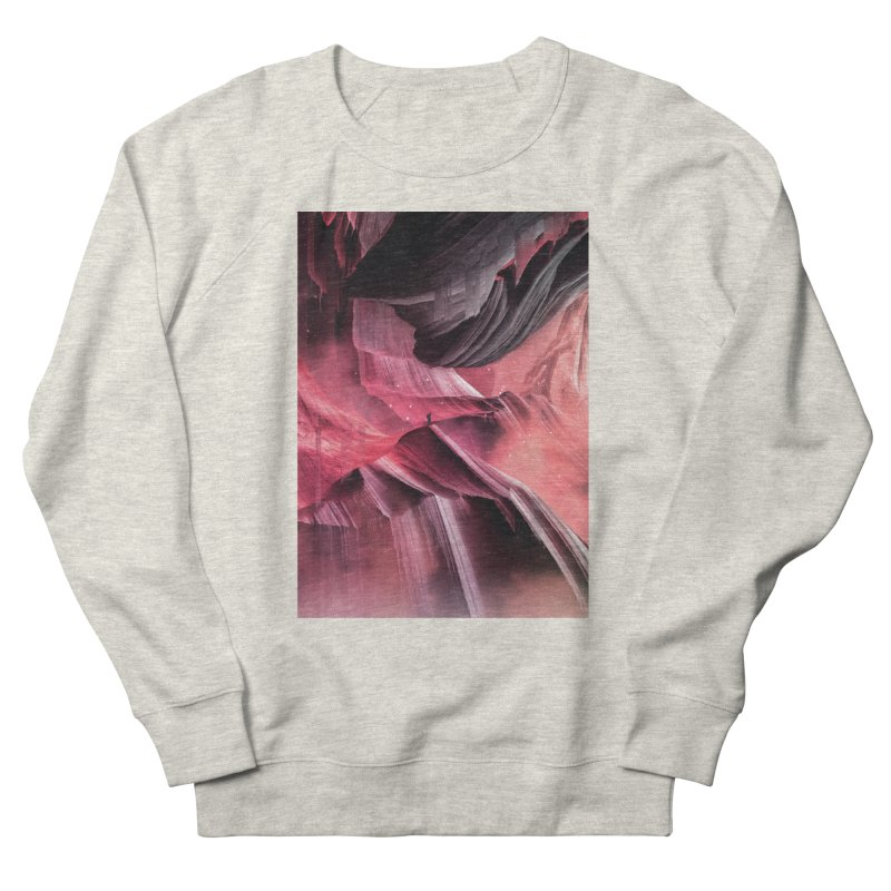 Return to a place never seen / Red Women's French Terry Sweatshirt by Adam Priesters Shop