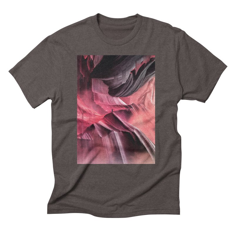 Return to a place never seen / Red Men's Triblend T-Shirt by Adam Priesters Shop